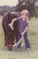 My first pony named Casper, 1989
